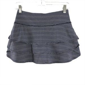 Athleta Dot Stripe Swagger Skort Skirt Blue XS